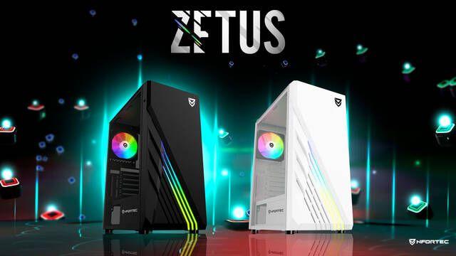 Zetus es la nueva torre de Nfortec con formato ATX y tecnología A-RGB
