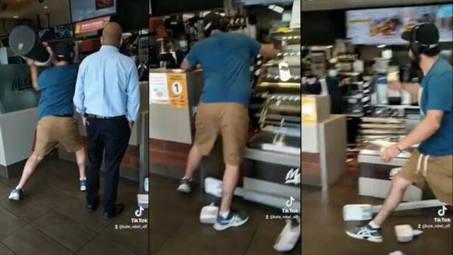Hombre destroza un McDonald's porque tardaban en servirle su Happy Meal