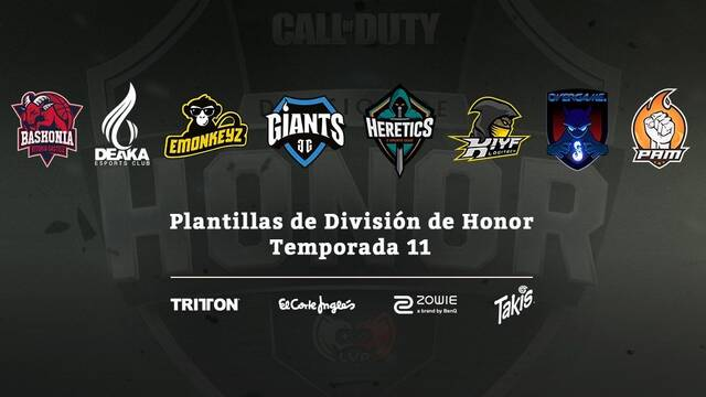Desvelados las plantillas de los equipos de CODHonor Temporada 11