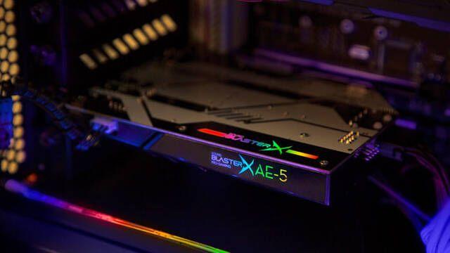 Creative celebra sus 30 años de tarjetas de sonido con la nueva Sound BlasterX AE-5