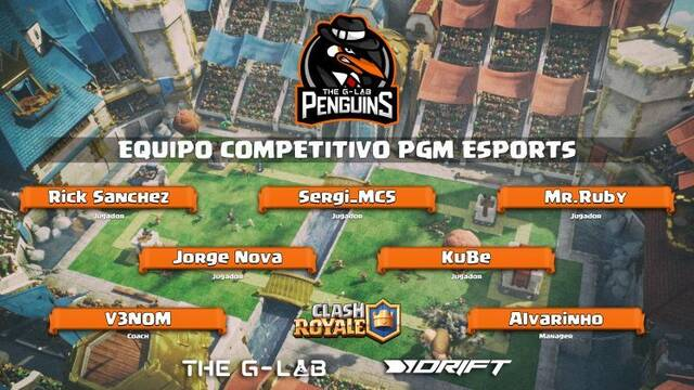 The G-LAB Penguins anuncia su entrada en Clash Royale