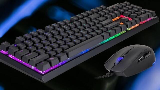 MasterSet MS120, el nuevo combo de teclado y ratón de Cooler Master para jugadores