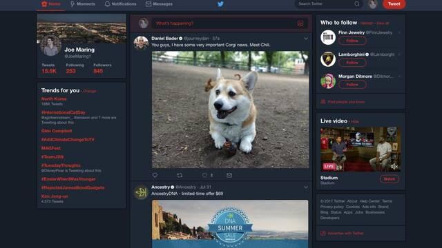 Twitter prepara un modo nocturno para la versión web de PC