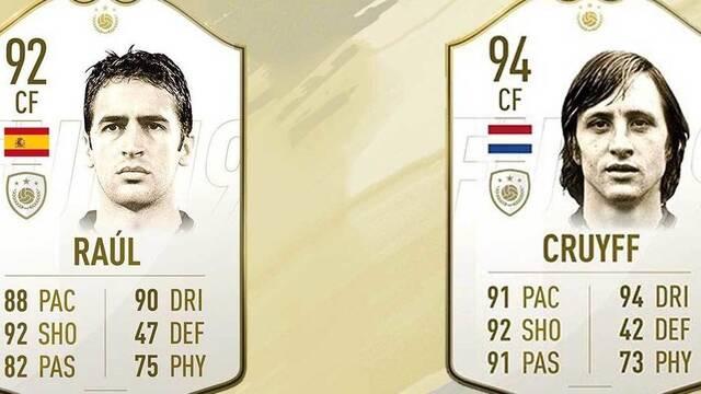 Raúl y Johan Cruyff entre las nuevas leyendas de FIFA 19