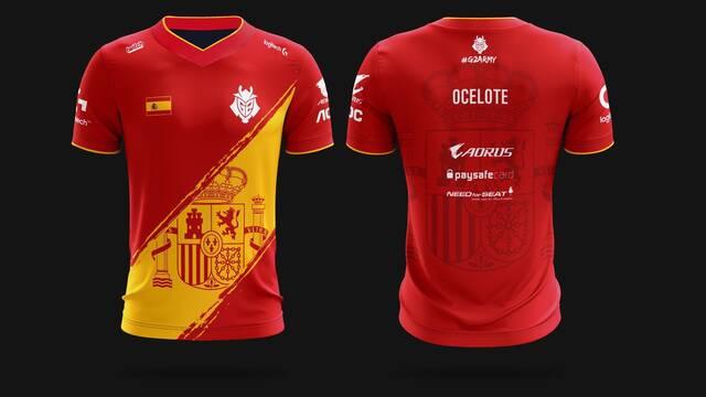 Ocelote la lía en la red presentando la camiseta de España de G2 Esports