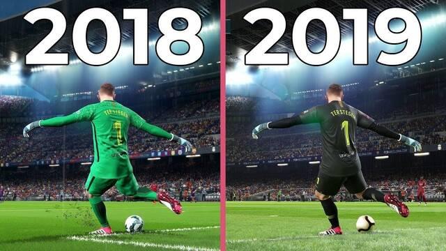 Comparativa: PES 2018 VS PES 2019 en PC a 4K y al máximo en gráficos