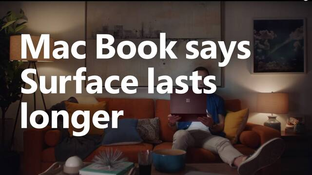Un hombre llamado Mac Book dice que Surface es mejor que Mac en un anuncio de Microsoft