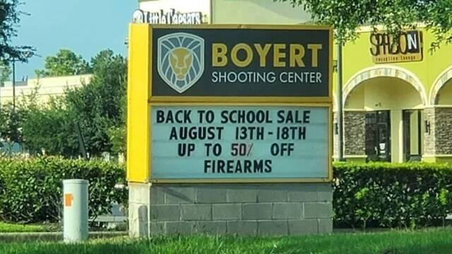 La vuelta al cole en Texas supone un descuento del 50% en armas de fuego