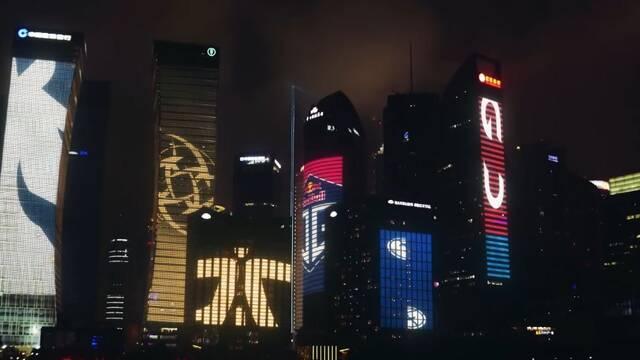 The International 2019: Así luce Shangai con los mejores equipos de DOTA 2 en sus fachadas