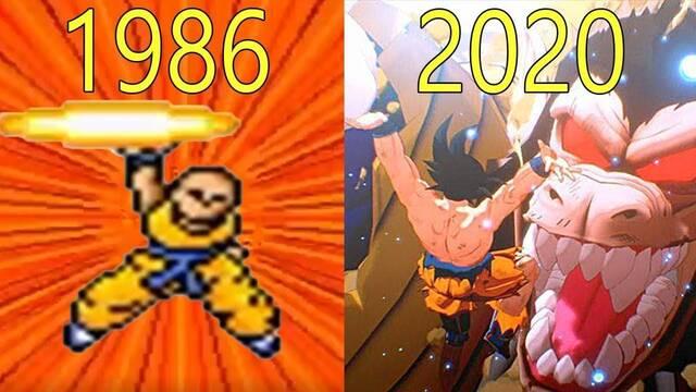Así han evolucionado gráficamente los juegos de Dragon Ball