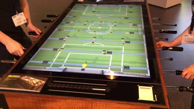 Llegan los futbolines digitales con pantallas 4K