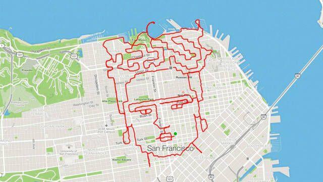 Deporte y arte: Un runner dibuja figuras en el mapa cuando sale a correr