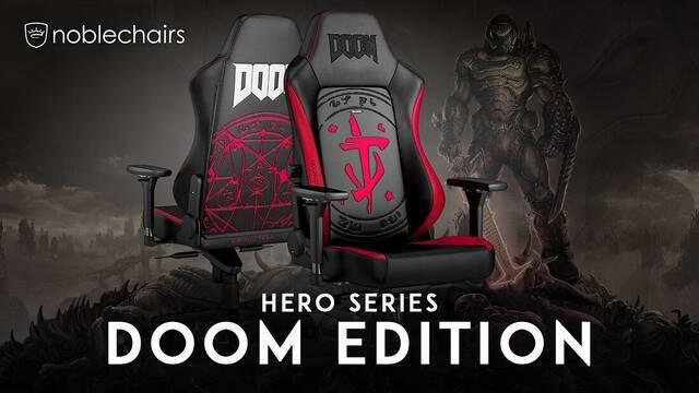 Noblechairs Hero Series Doom Edition, la silla para jugar para los amantes de Doom