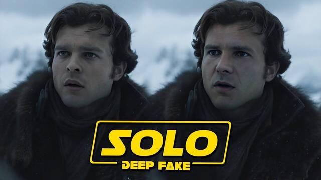 Star Wars: Harrison Ford es un joven Han Solo gracias a un vídeo 'deepfake'