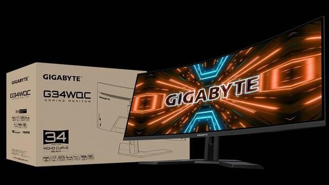 """Gigabyte presenta su nuevo monitor para jugar, el G34WQC de 34"""" y 144 Hz"""