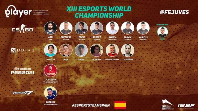 Esta es la convocatoria de España para el Mundial de Esports
