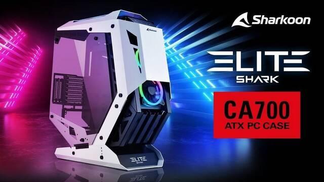 Sharkoon ELITE Shark CA700, un chasis de marco abierto y corte futurista
