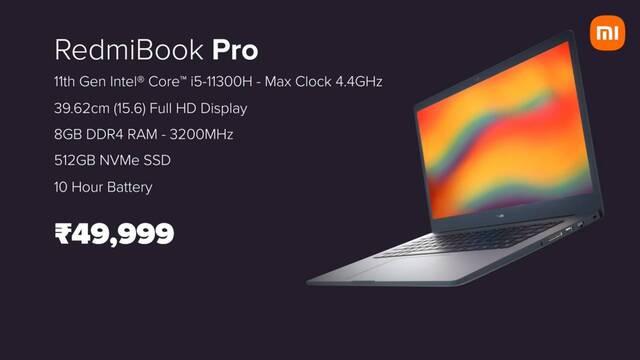 Xiaomi anuncia su nuevo portátil RedmiBook 15 Pro con procesador Intel Tiger Lake-H