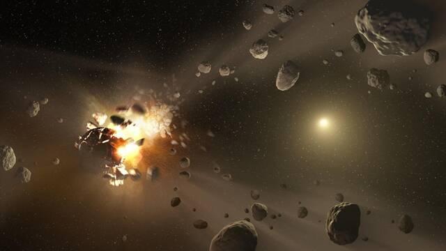 Dos objetos rojos hallados en un cinturón de asteroides explicaría el origen de la vida