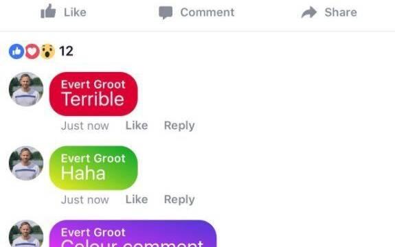 El fin del mundo más cerca: Facebook planea comentarios de colores