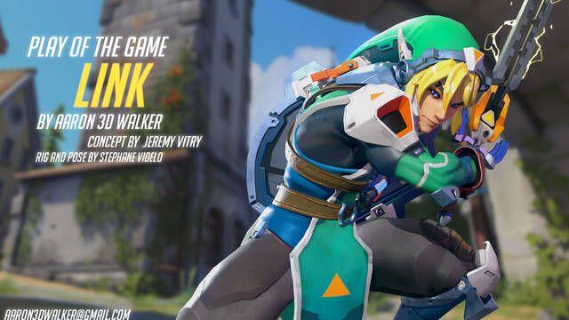 Así sería Link, protagonista de Zelda, en Overwatch