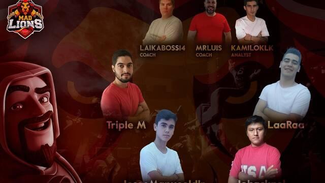 Mad Lions presenta a su equipo de Clash Royale