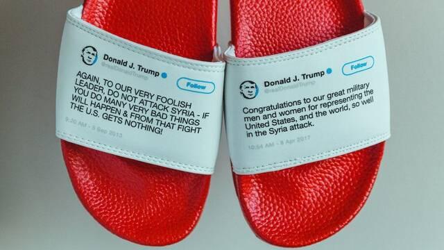 Hacen chancletas con pares de tweets contradictorios de Trump