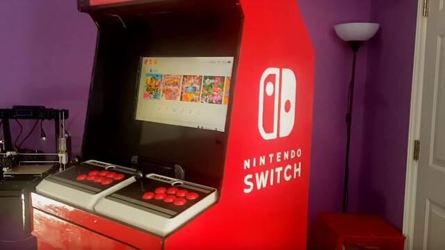 Convierten una Nintendo Switch en una máquina recreativa totalmente funcional