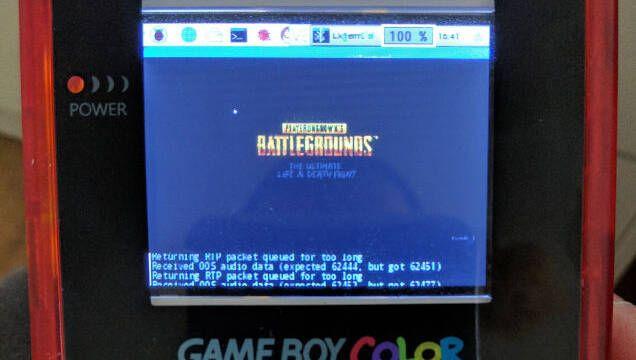 Construye una Game Boy Raspberry Pi que le permite jugar a PUBG