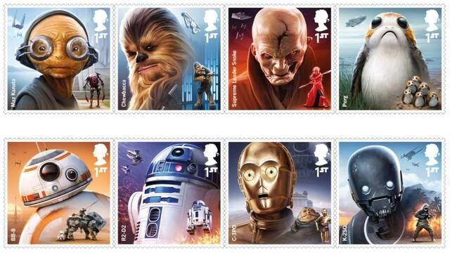 Sí, ya hay sellos de Star Wars
