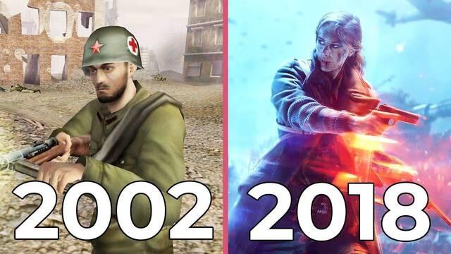 Así ha evolucionado gráficamente Battlefield en 16 años
