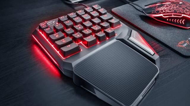 Trust Gaming presenta su teclado de una sola mano para jugones