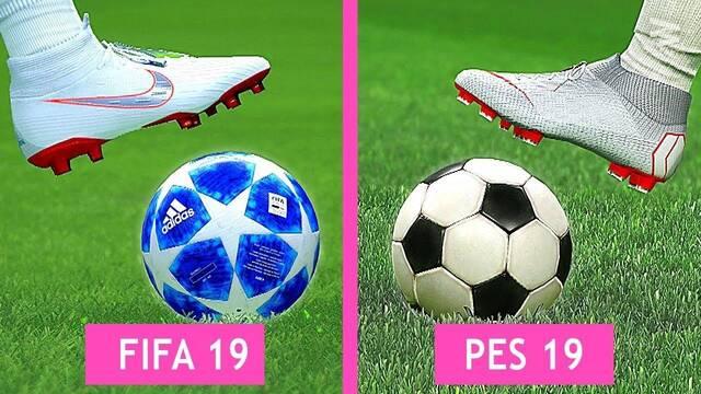 FIFA 19 y PES 2019 se enfrentan en esta comparativa gráficas