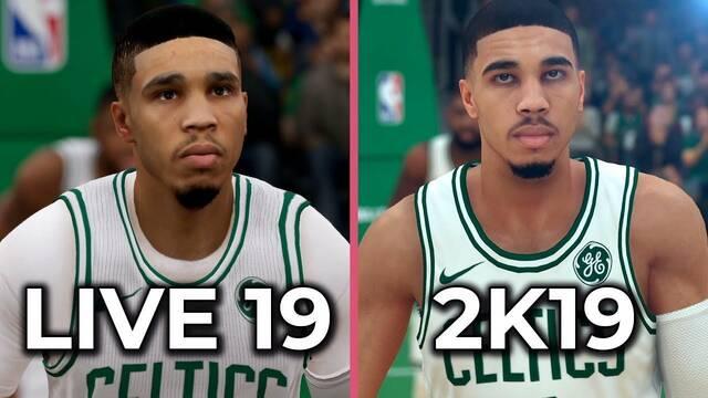Comparativa gráfica: NBA 2K19 se enfrenta a NBA Live 19