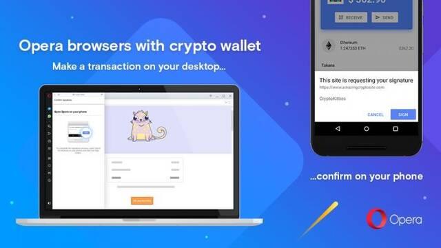 Opera lanza su navegador de escritorio con cartera para criptomonedas