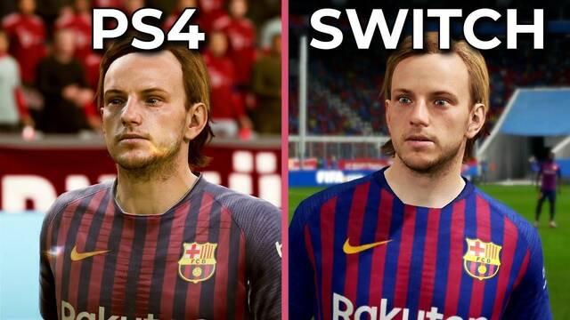 Comparan los gráficos de FIFA 19 en PS4 y Nintendo Switch