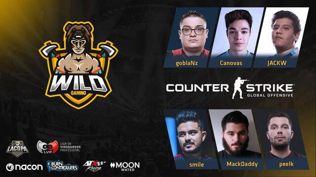 Wild Gaming presenta su plantilla de CS:GO para la Copa de la LVP