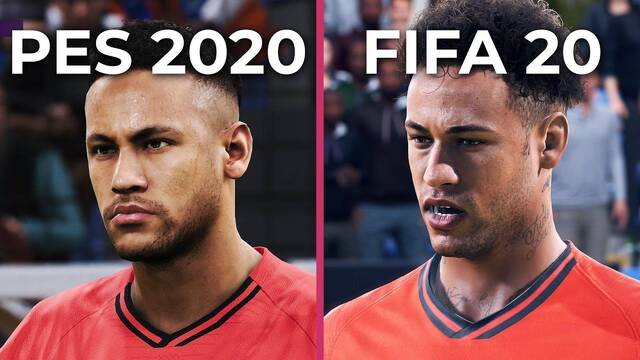 Comparativa gráfica: PES 2020 VS. Demo FIFA 20