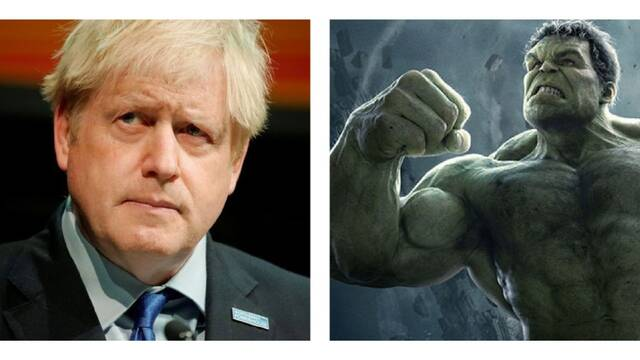 Boris Johnson se compara con Hulk, y Mark Ruffalo le para los pies