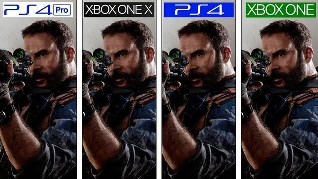 Así se ve la beta de CoD: Modern Warfare en PS4, PS4 Pro, Xbox One y Xbox One X