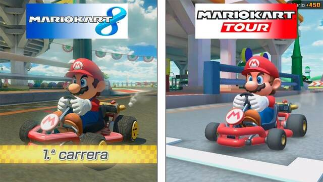 Comparativa gráfica: Mario Kart Tour Vs Mario Kart 8 Deluxe