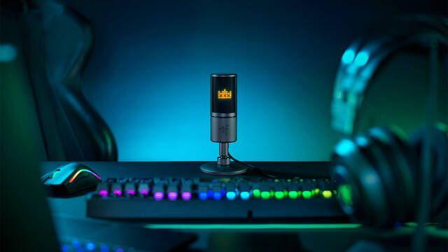 Razer presenta Seiren Emote, un micro para streamers con pantalla LED y emoticonos
