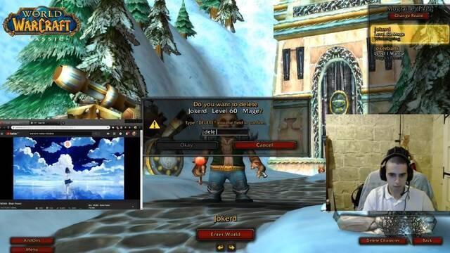 Jokerd borra el primer personaje nivel 60 de la historia de WOW Classic
