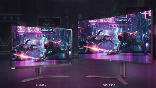 LG presenta sus nuevos monitores para jugar LG 38GL950G y 27GL850