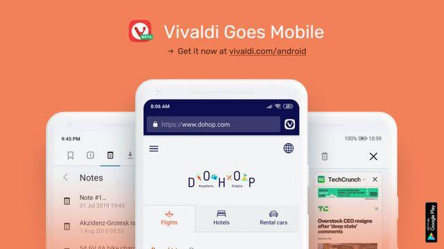 Vivaldi llega por fin a teléfonos Android