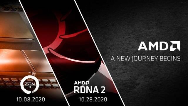 AMD presentará los procesadores Zen 3 y las gráficas RDNA 2 en octubre