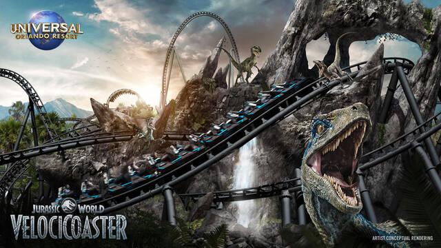 Jurassic World: Así es su increíble y nueva montaña rusa en Universal Studios