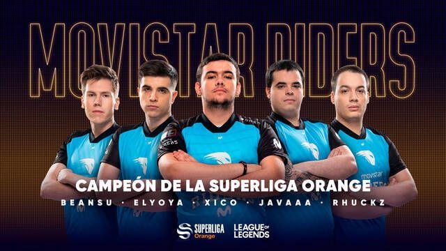 Movistar Riders es el nuevo campeón de la Superliga Orange de League of Legends