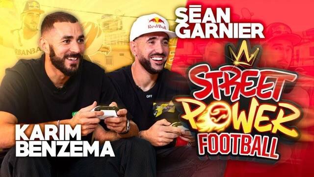 Benzema, delantero del Madrid, se vuelve youtuber por un día con Street Power Football