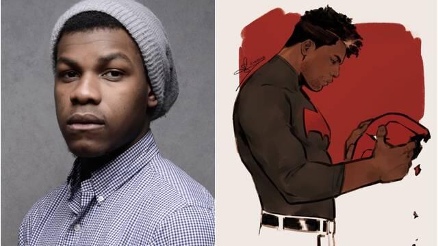 Imaginan a John Boyega como Red Hood y el actor lo aprueba